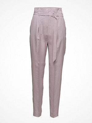 Mango omönstrade byxor Buckle High-Waist Trousers
