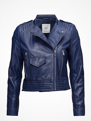 Mango Quilted Panels Leather Jacket