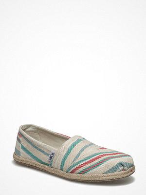 Tygskor & lågskor - Toms Pale Pink Woven Stripe Rope Alpargata