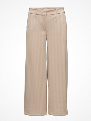 2nd One randiga byxor Eloise 805 Crop, Rice Plissé, Pants