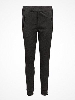 2nd One svarta byxor Miley 837 Zip, Dark Grey Melange, Pants