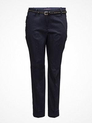 Violeta by Mango svarta byxor Detachable Belt Trousers
