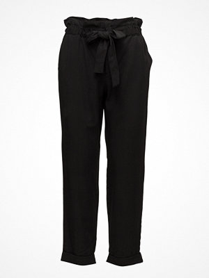 Mango svarta byxor Paper Bag Trousers