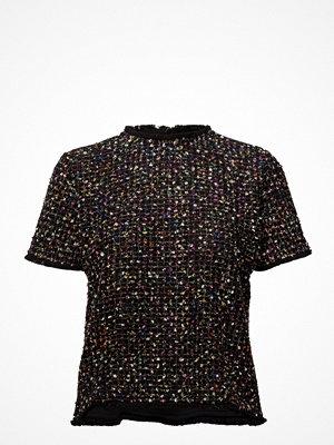 Blusar - Mango Tweed Contrasting T-Shirt