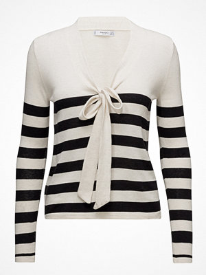 Mango Bow Striped Sweater
