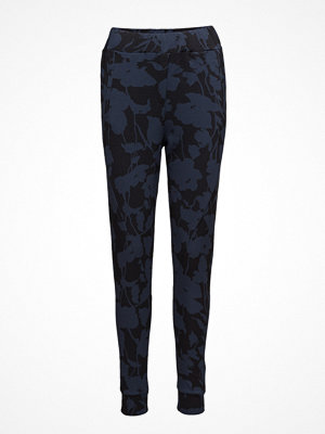 2nd One marinblå byxor med tryck Miley 810 Navy Blossom, Pants