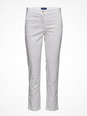 Gant ljusgrå byxor Classic Cropped Chino