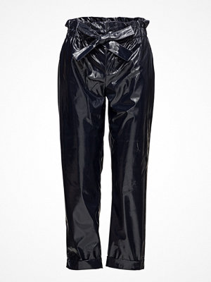 Mango svarta byxor Paper Bag Vinyl Trousers