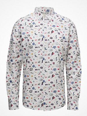 Knowledge Cotton Apparel Concept Print Shirt- Gots