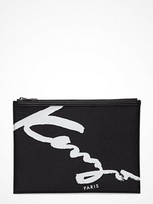Kenzo svart kuvertväska med tryck Pouch Main