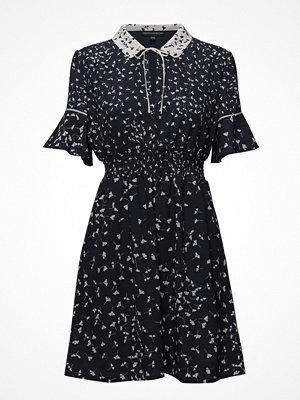 French Connection Komo Drape Short Sleeve Flared Dress