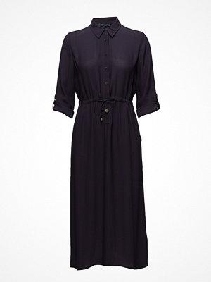 French Connection Cecil Drape 3/4 Sleeve Mavi Shirt Dress