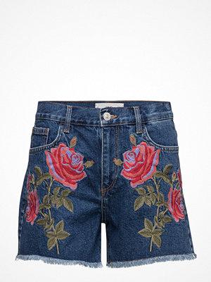 Shorts & kortbyxor - Mango Embroidered Denim Short