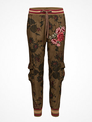 Desigual bruna byxor med tryck Pant Manoli