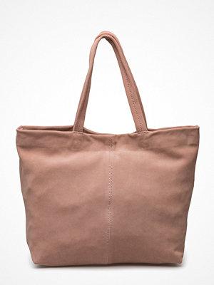Mango Leather Shopper Bag beige