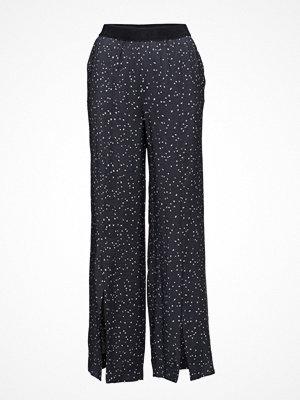 Dagmar svarta byxor med tryck Gaby Trouser