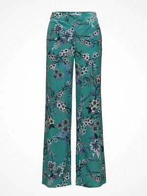Gestuz turkosa byxor med tryck Ocean Pants Ms18