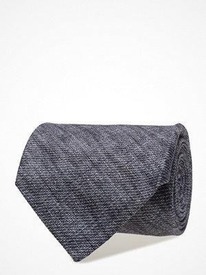 Slipsar - ATLAS DESIGN Tie Printed Melange Navy Line