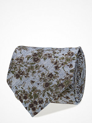 Slipsar - ATLAS DESIGN Tie Floral Print Navy Line