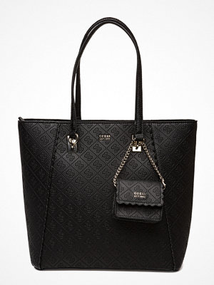 Guess svart mönstrad shopper Ayna Tote