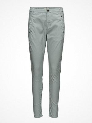 Fiveunits grå byxor Jolie 374 Silentio Coated, Pants