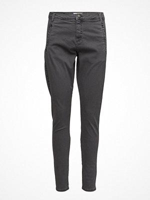 Fiveunits mörkgrå byxor Jolie 202 Mid Grey Angle, Pants