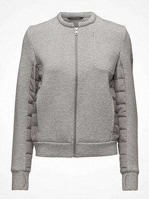 Gant ljusgrå bomberjacka O. Soft Quilted Jacket