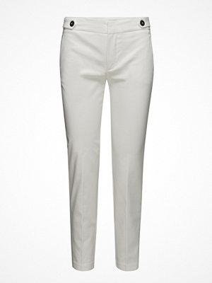 Mango vita byxor Cropped Button Pants