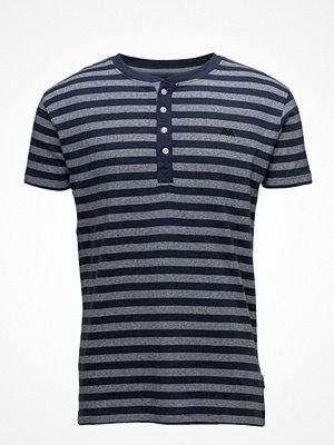 T-shirts - Lindbergh Y/D Striped Granddad S/S