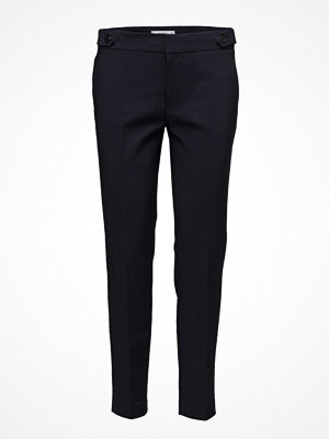Mango svarta byxor Cropped Button Pants
