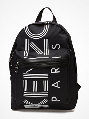 Kenzo svart ryggsäck med tryck Bag Has Back Main