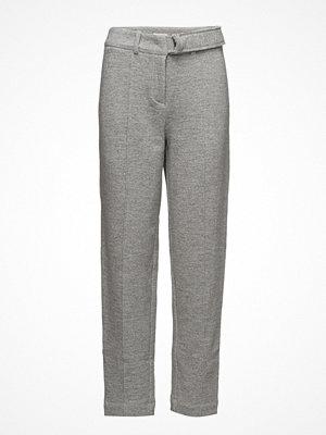 ÁERON ljusgrå byxor D-Ring Belted Peg Pants