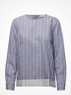 Coster Copenhagen Striped Shirt Blouse W. Ribbon Edge