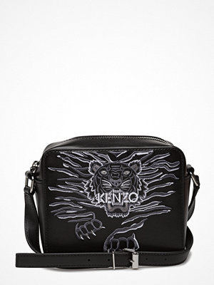 Kenzo svart axelväska med tryck Shoulder Bag Main