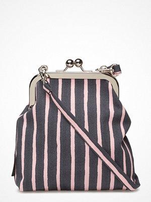 Marimekko randig axelväska Roosa Piccolo Shoulder-Bag