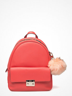 Guess röd ryggsäck Arsity Pop Backpack
