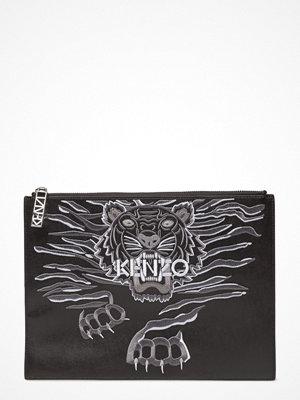 Kenzo svart kuvertväska med tryck Clutch Bag Main