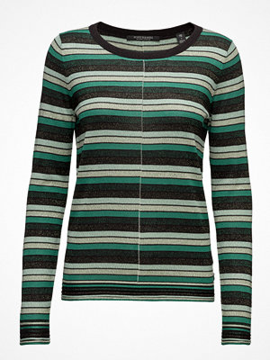 Scotch & Soda Fine Gg Pullover Lurex Knit In Stripes Or Solid