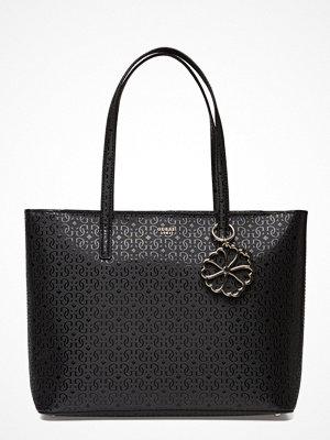 Guess svart mönstrad shopper Ayne Tote