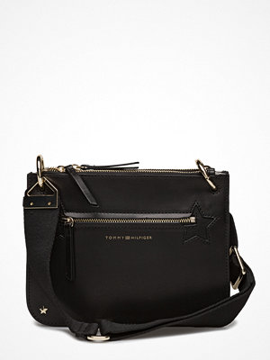 Tommy Hilfiger svart axelväska Star Studded Leather