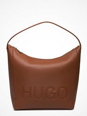 Hugo omönstrad axelväska Mayfair Hobo