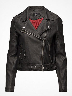 Only Onlluna Crop Faux Leather Biker Otw Noos
