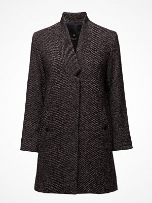 Mango Herringbone Flecked Coat