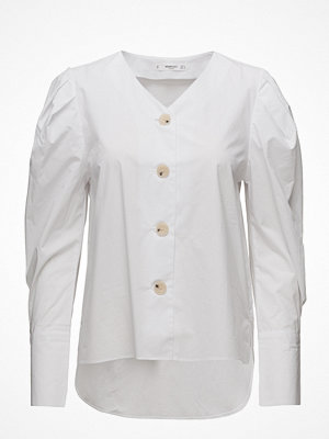 Mango Puffed Sleeves Poplin Shirt