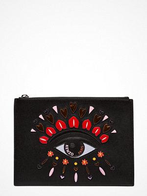 Kenzo svart kuvertväska med tryck Clutch Bag Special