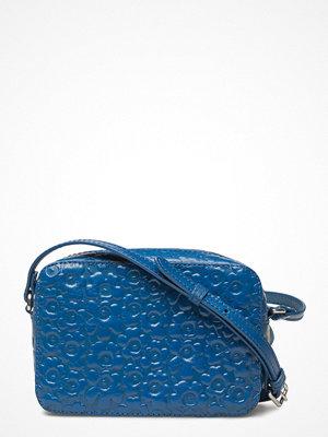 Marimekko blå mönstrad axelväska Nerva Handbag