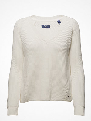 Gant O1. Chunky Ribbed V-Neck