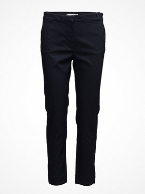 Mango svarta byxor Crop Slim-Fit Trousers