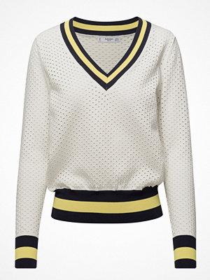 Mango Tricolor Openwork Sweater