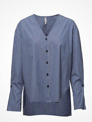 Mango Fine-Stripe Cotton Blouse